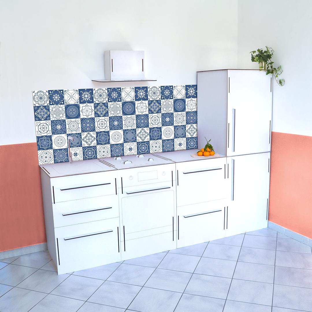 modulo mobile in cartone cucina quattro moduli Domus Styling